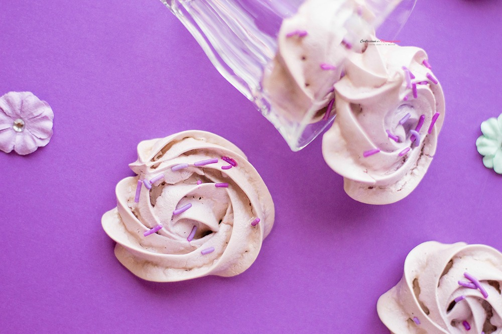 Purple Flower Meringue Cookies Recipe Horizontal 3