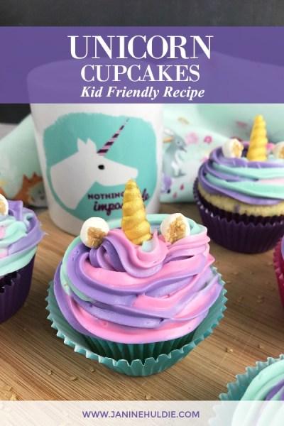 Unicorn Cupcakes Recipe Featured Image
