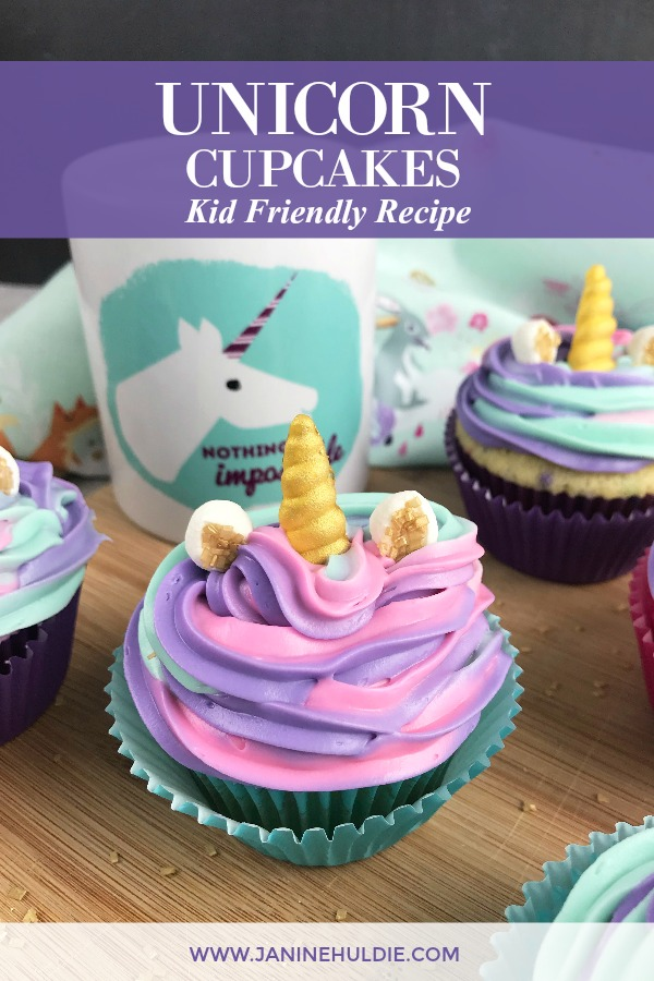 Unicorn Cupcakes Recipe Featured Image