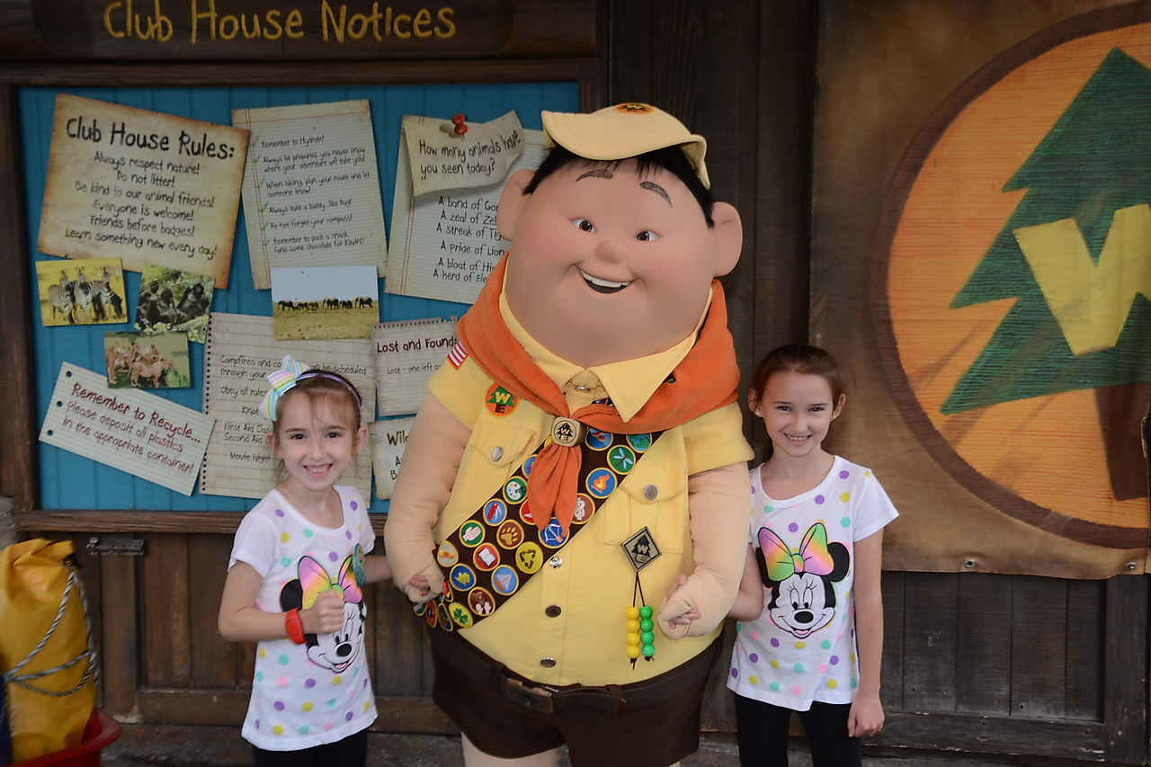 With Russel from Up at Animal Kingdom