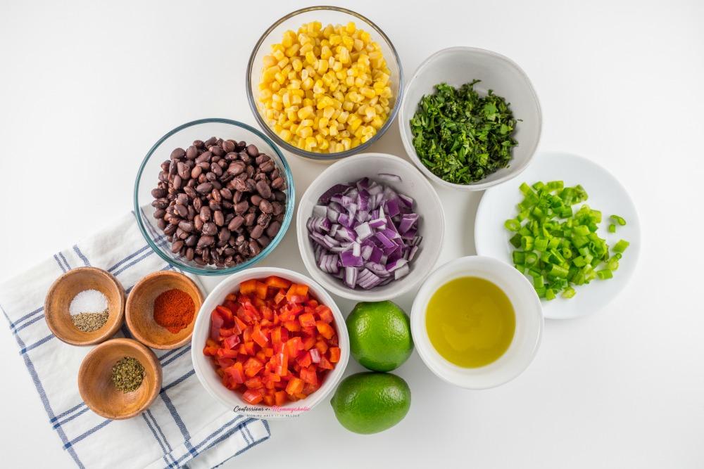 Black-Bean-and-Corn-Salsa-Recipe Ingredients