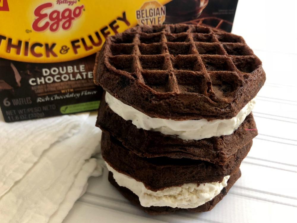 Chocolate Waffle Ice Cream Sandwich Horizontal 3