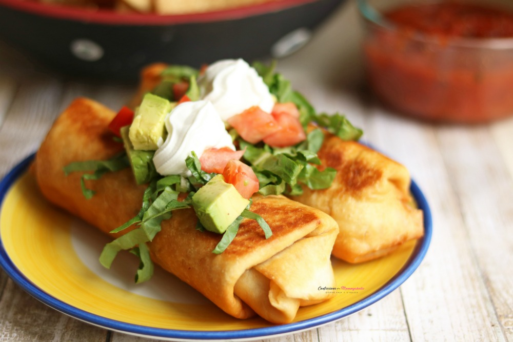 Quick and Easy Rotisserie Chicken Chimichangas Recipe Horizontal 1