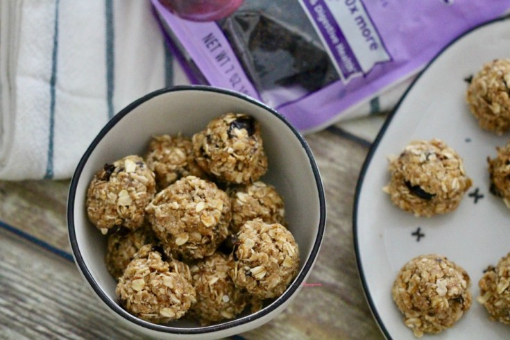 NOBAKE Oatmeal Prune Cookie BALLS