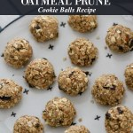 NO BAKE OATMEAL Cookie BALLS with Diced Prunes