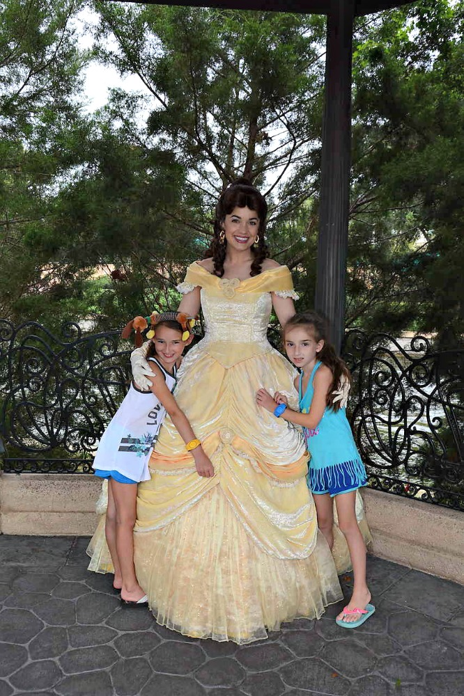 Epcot Photo with Belle in France