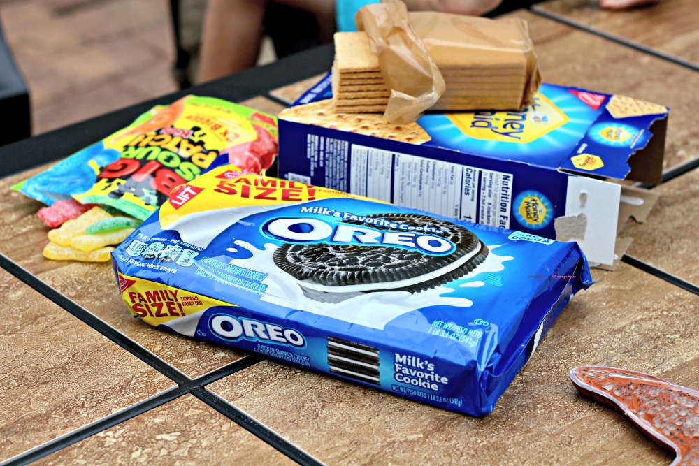 Nabisco Snacks on Patio Table