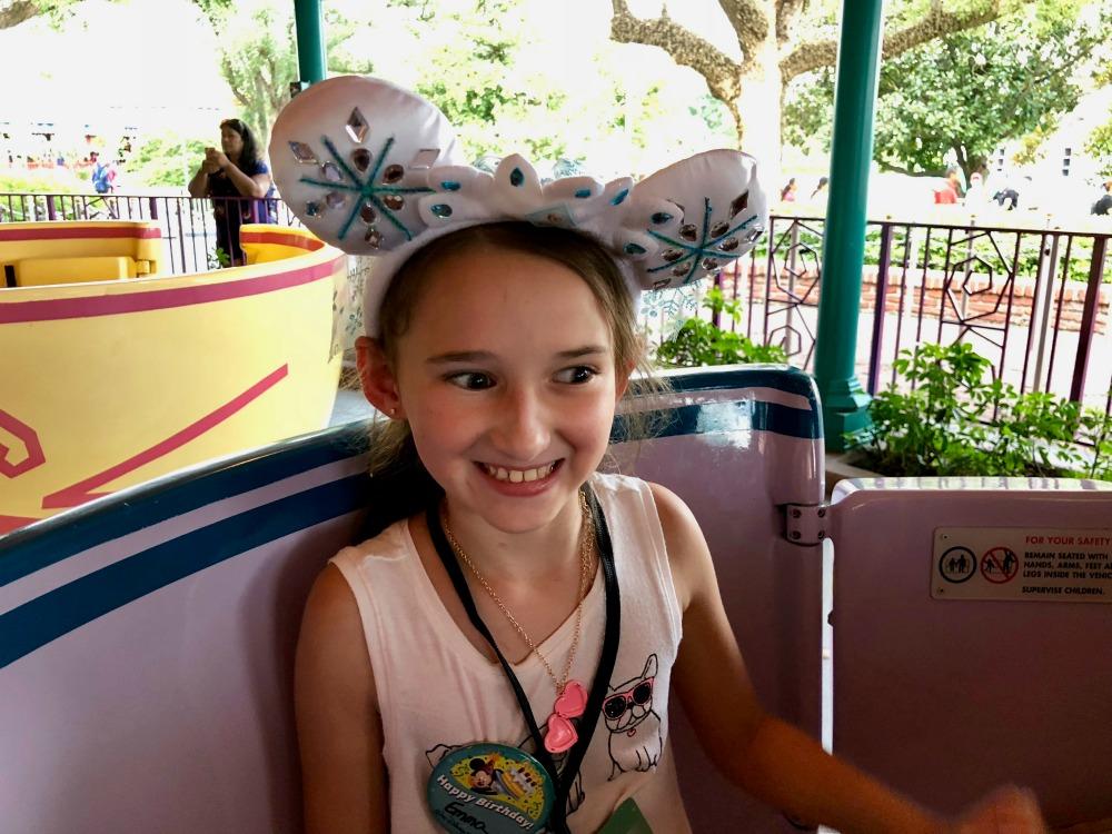On Mad Tea Party at Walt Disney Magic Kingdom Fantasy Land