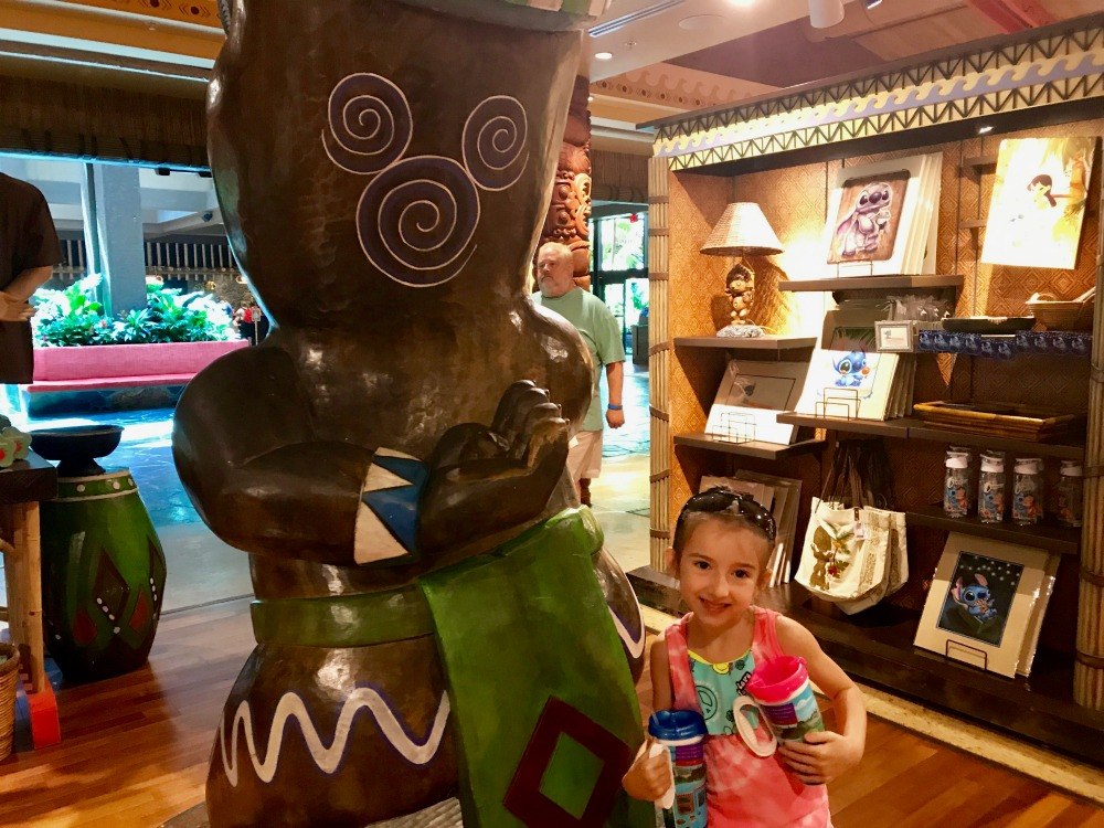Hidden Mickey at Walt Disney Polynesian Resort Boutiki Gift Shop