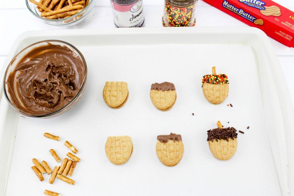Nutter Butter Acorns Cookie Treats In Process 2