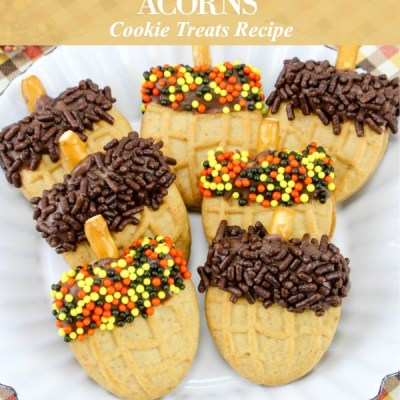 Nutter Butter Acorns Cookie Treats Recipe Featured Image