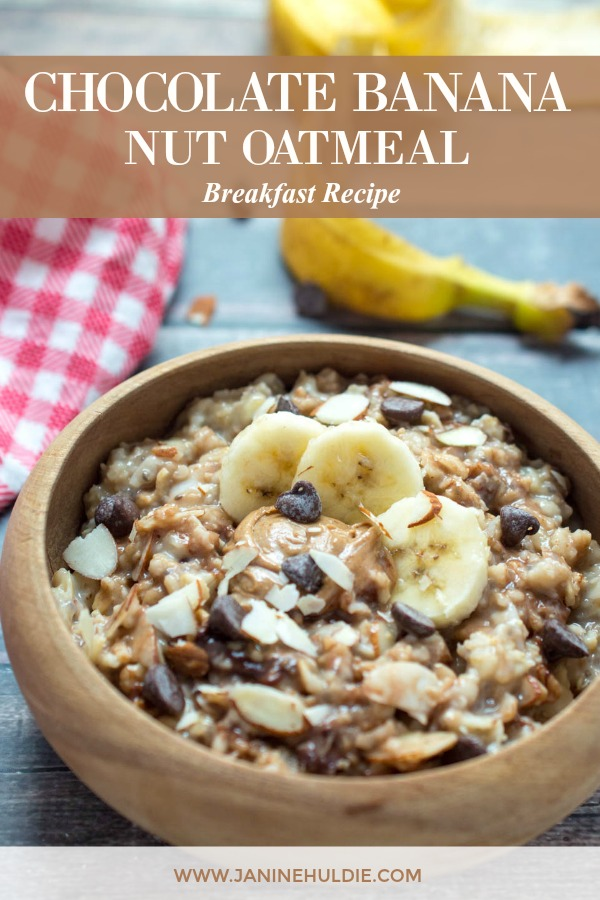 Chocolate Banana Nut Oatmeal Recipe