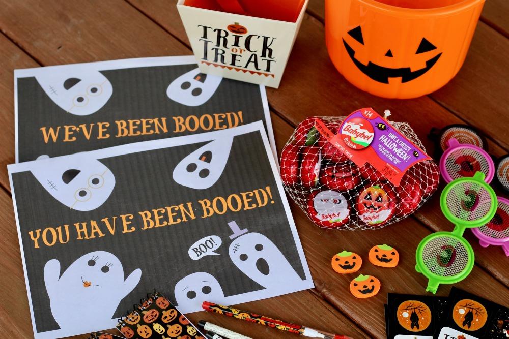 Halloween Booed Supplies with Babybel