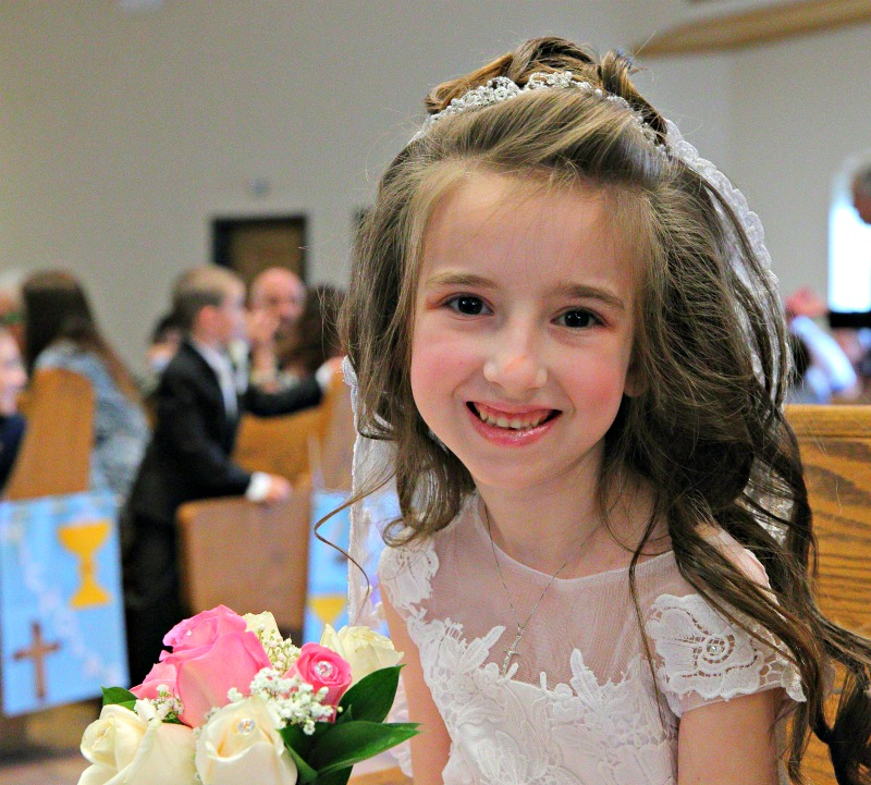 Lily Communion in Church