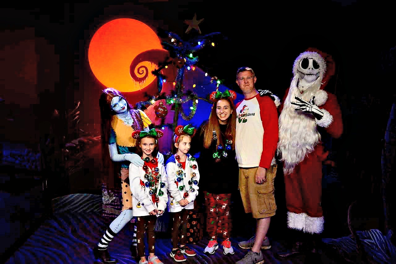 Meeting Jack and Sally at Mickeys Very Merry Christmas Party