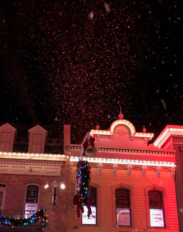 Snow on Main Street During Mickey Very Merry Christmas Party