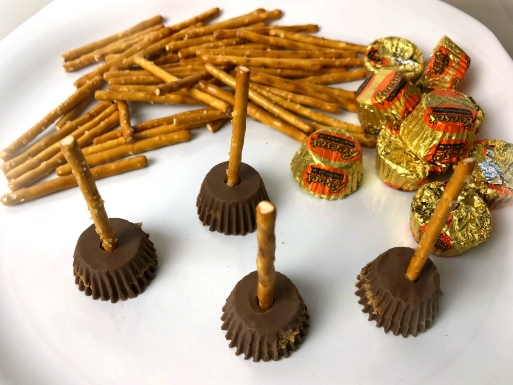 Witch Brooms Peanut Butter Cups Process