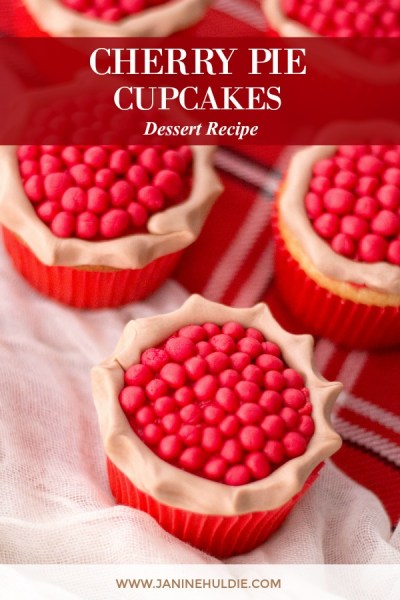 Cherry Pie Cupcakes Recipe Featured Image