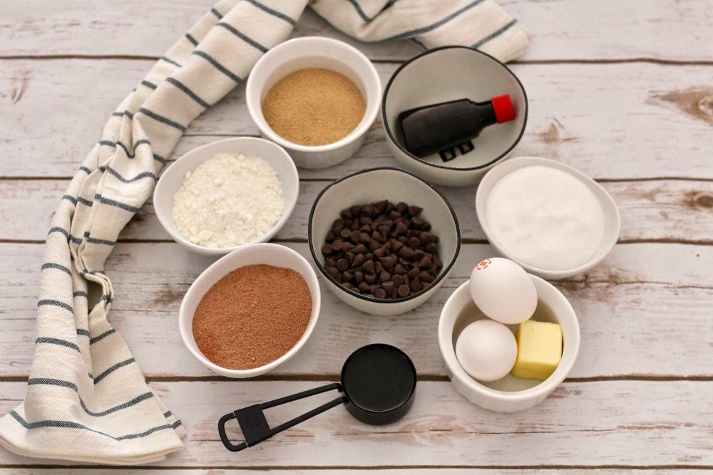 Gluten Free Double Chocolate Brownies Ingredients