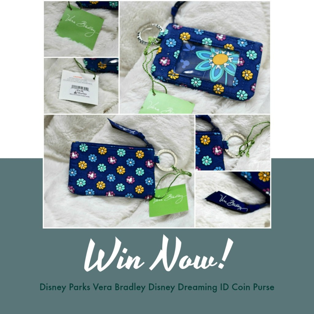 Win Disney Parks Vera Bradley Disney Dreaming ID Coin Purse