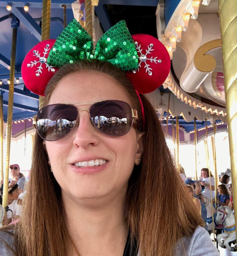 Janine on Walt Disney World Magic Kingdom Carousel