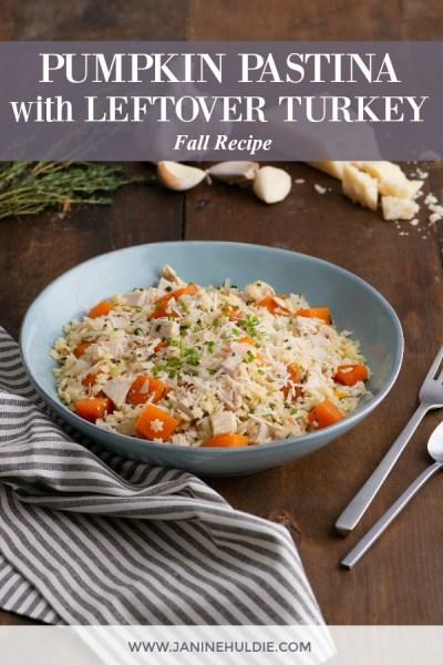 Pumpkin Pastina with Leftover Turkey Recipe Featured Image