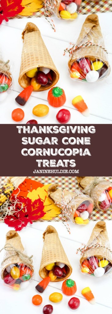 Thanksgiving Sugar Cone Cornucopia Treats Recipe