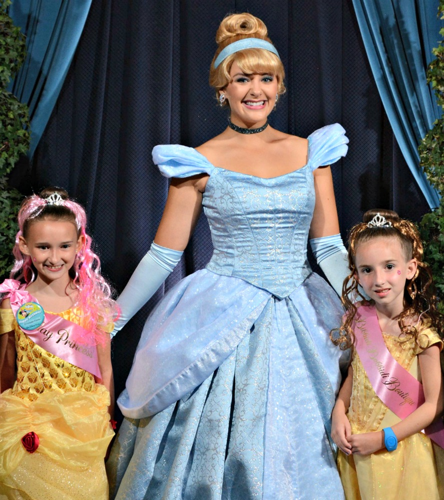 With Cinderella at Cinderella's Royal Table