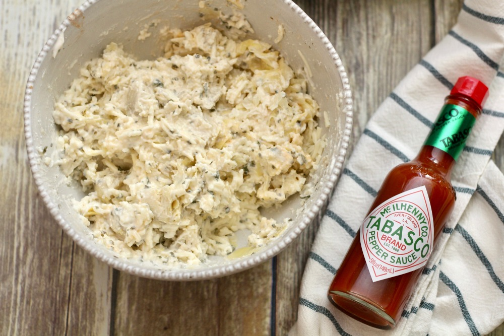 All Mixed Spicy Artichoke Dip