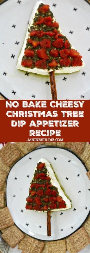 No Bake Cheesy Christmas Tree Dip Appetizer Recipe