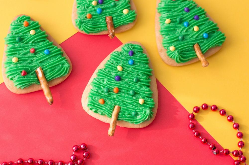 The Easiest Christmas Tree Cookies Horizontal 1