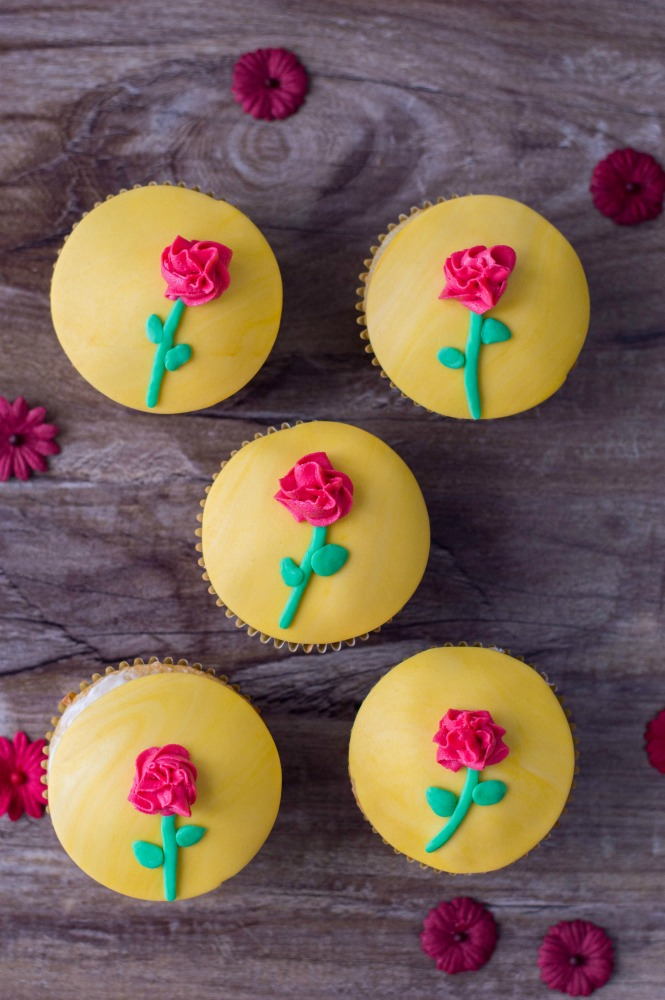 Beauty and the Beast Cupcakes Vertical 2
