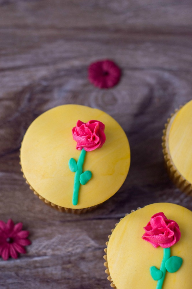 Beauty and the Beast Cupcakes Vertical 3