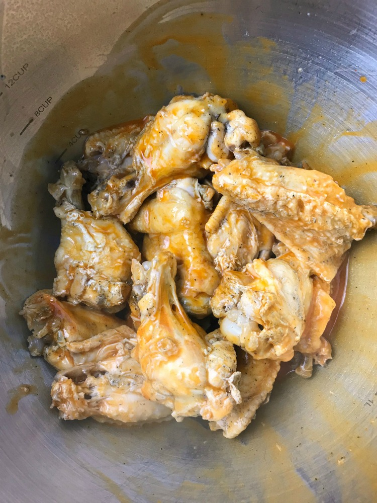 Instant Pot buffalo chicken wings prep1