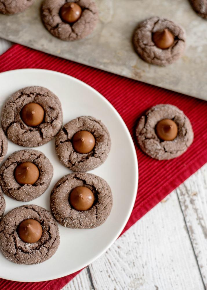 Double Chocolate Cake Mix Kiss Cookies 2