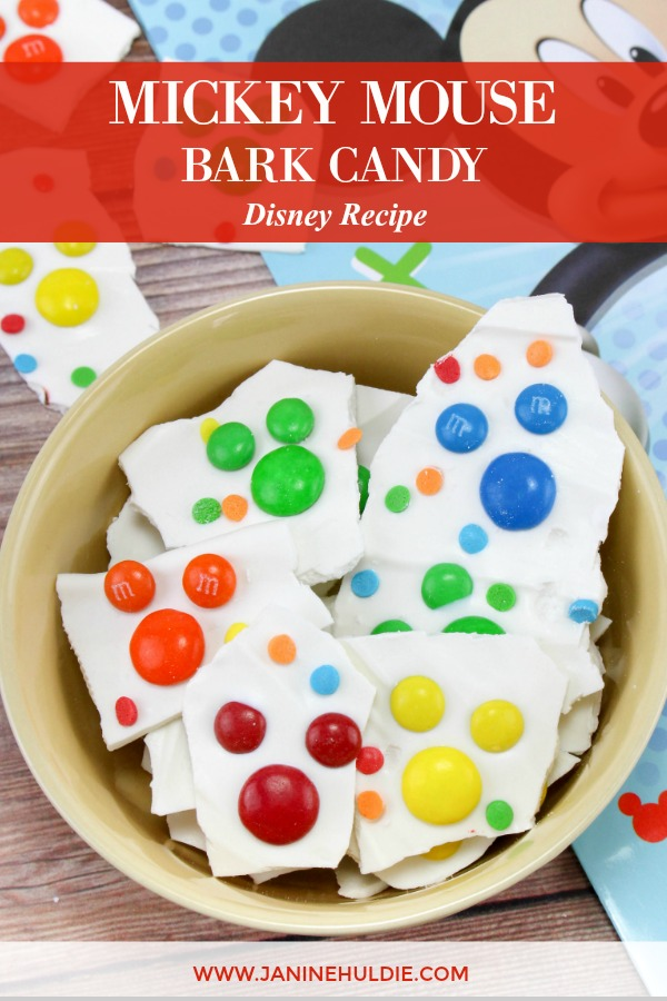 Mickey Mouse Bark Candy Recipe Featured Image