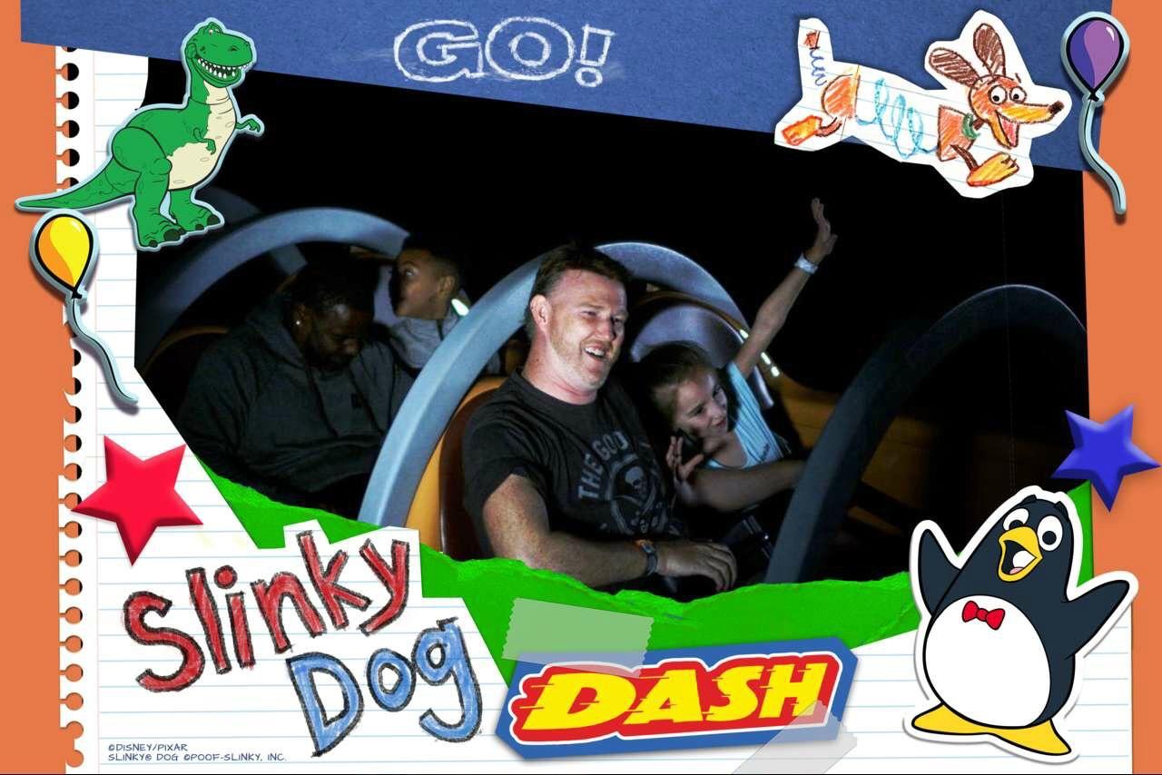 Slinky Dog Dash Ride Photo
