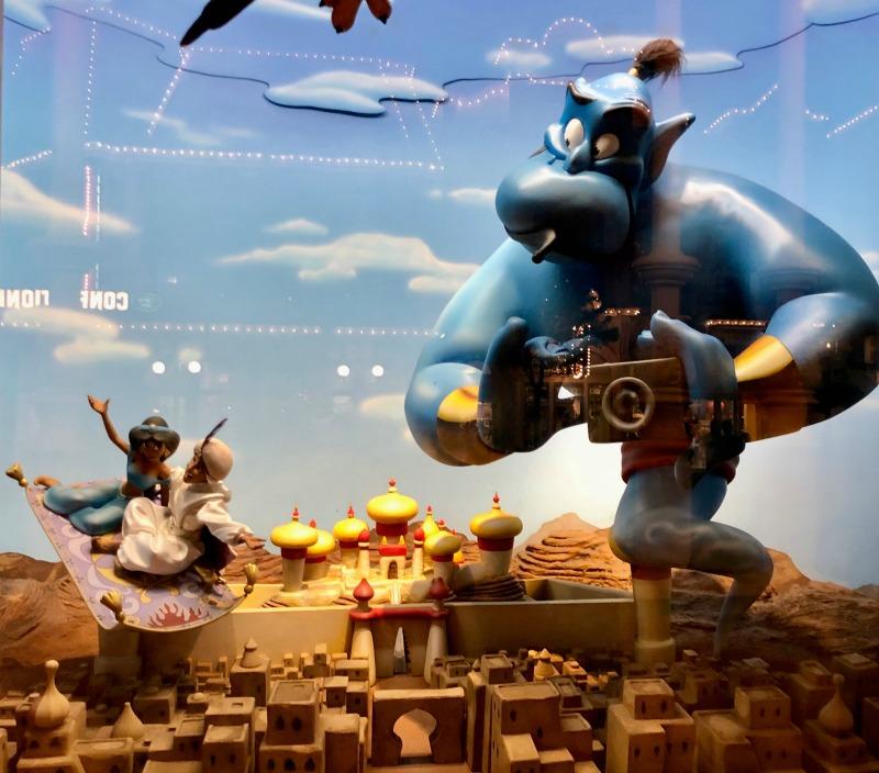 Aladdin Scene in the Window of Walt Disney World Magic Kingdom Emporium