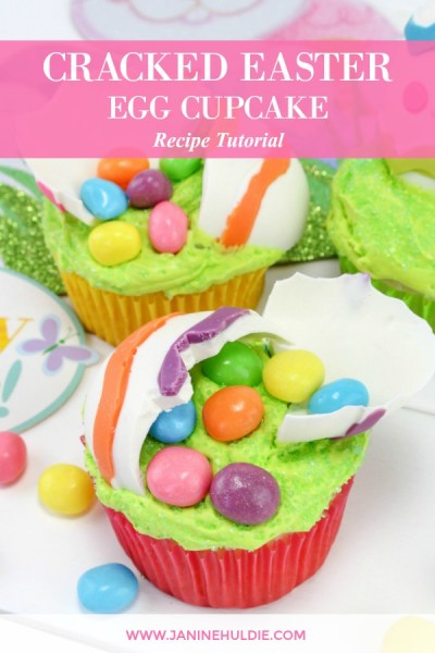 Cracked Easter Egg Cupcakes
