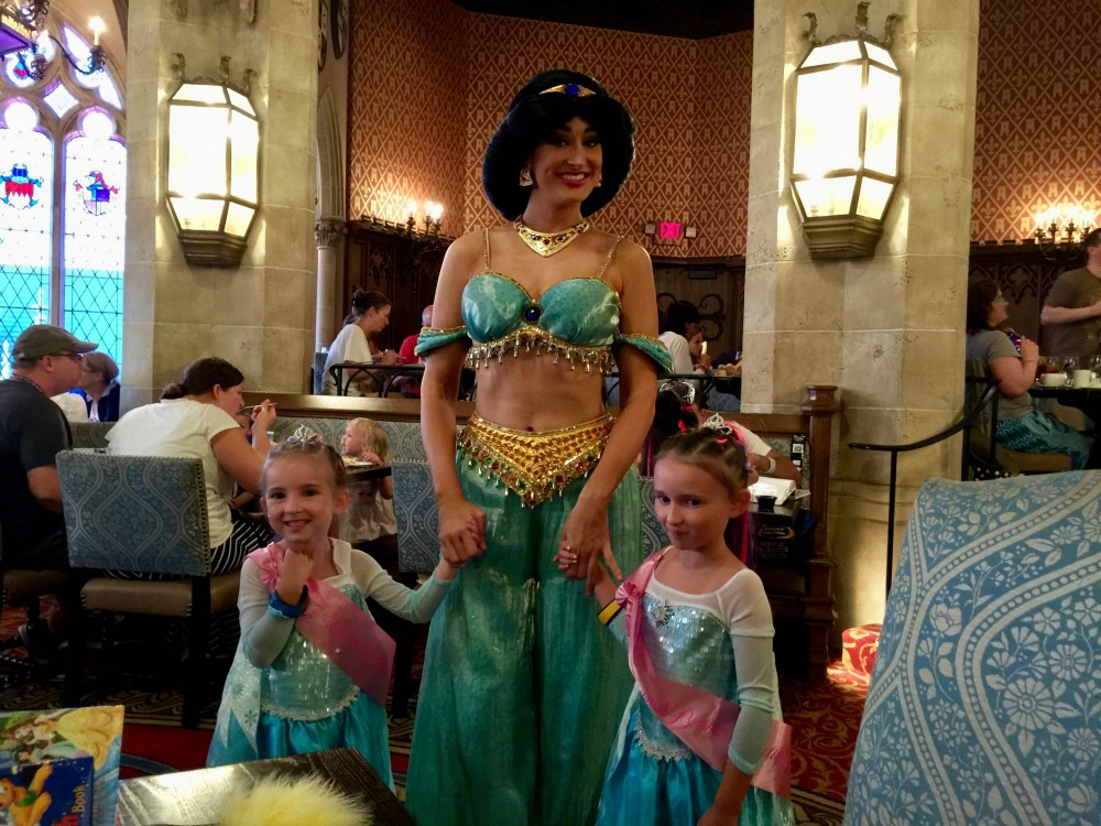 Meeting Jasmine at Cinderellas Royal Table 2015