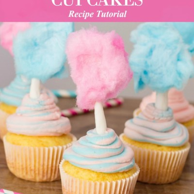 Cotton Candy Cupcakes Recipe Featured Image