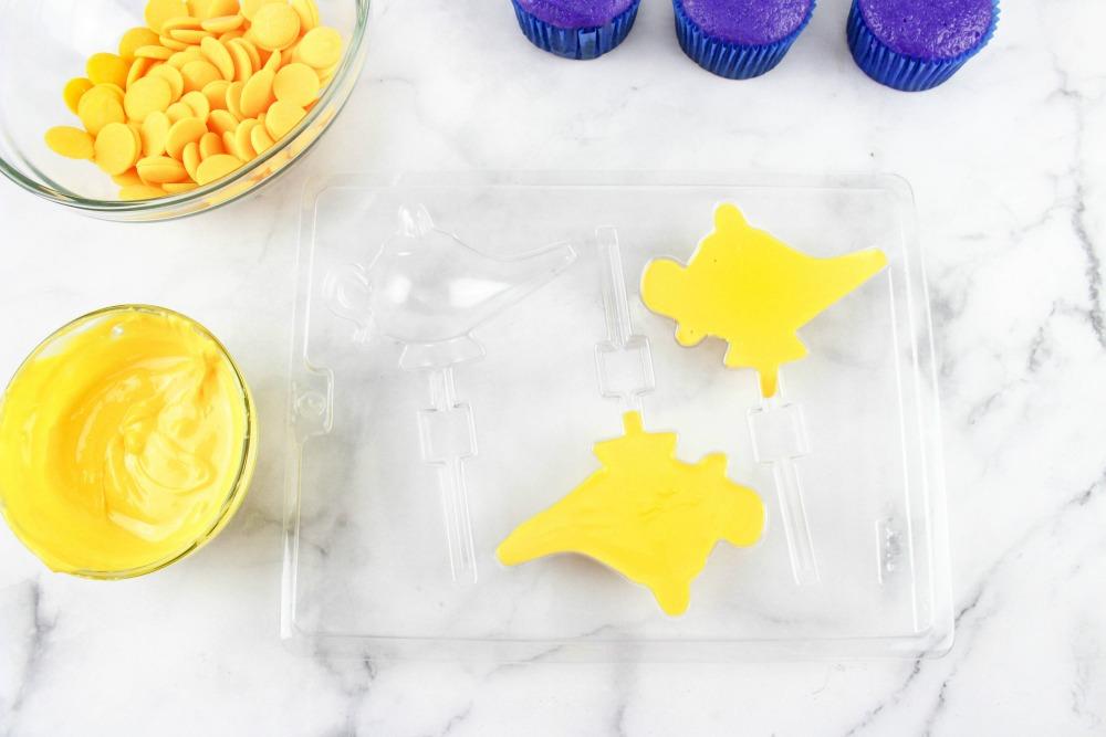 Disney Aladdin Cupcakes In Process 1