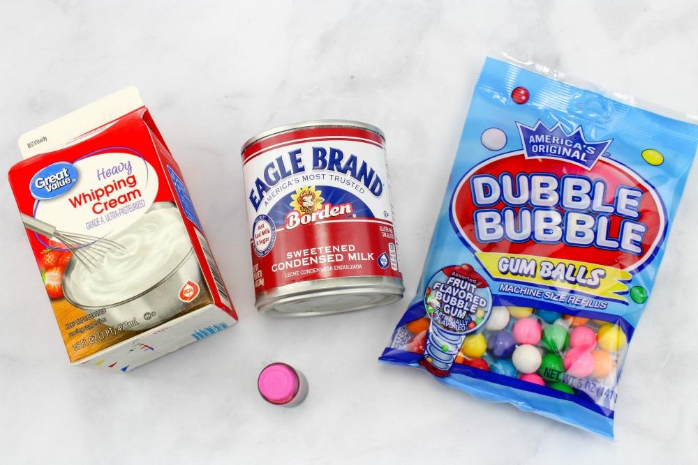 Bubble Gum Ice Cream Ingredients
