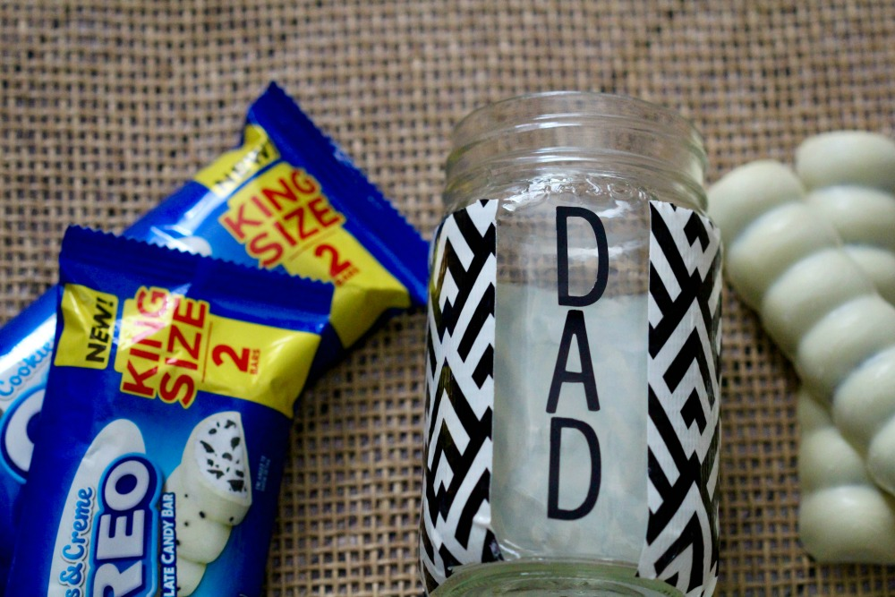 Dad Washi Tape Mason Jar Craft 1