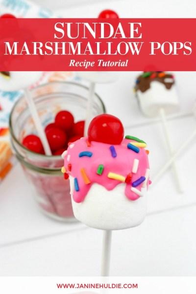 Sundae Marshmallow Pops Recipe Featured Image