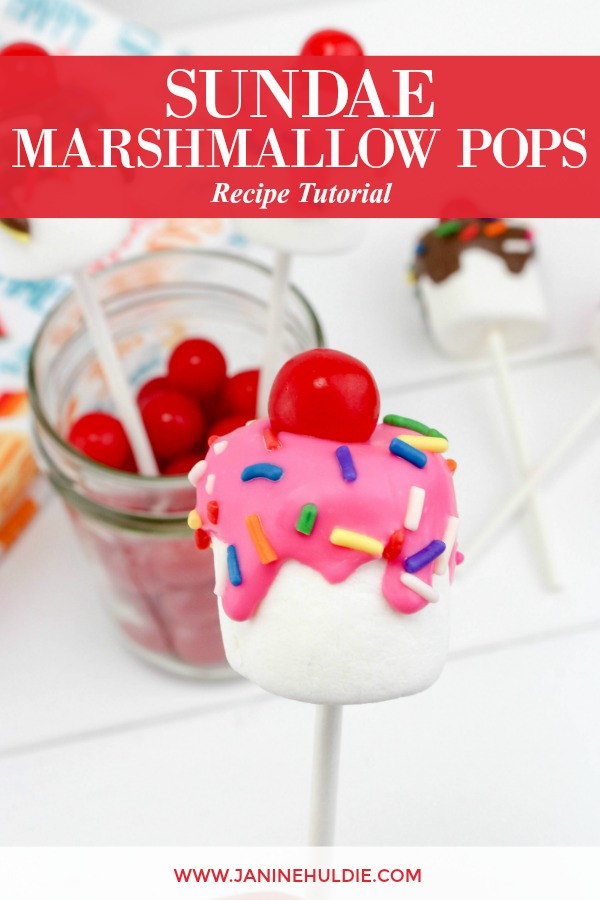 Sundae Marshmallow Pops Recipe Featured Image