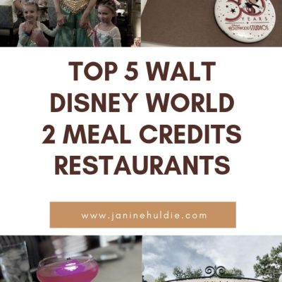 Top 5 Walt Disney World 2 Meal Credits Restaurants