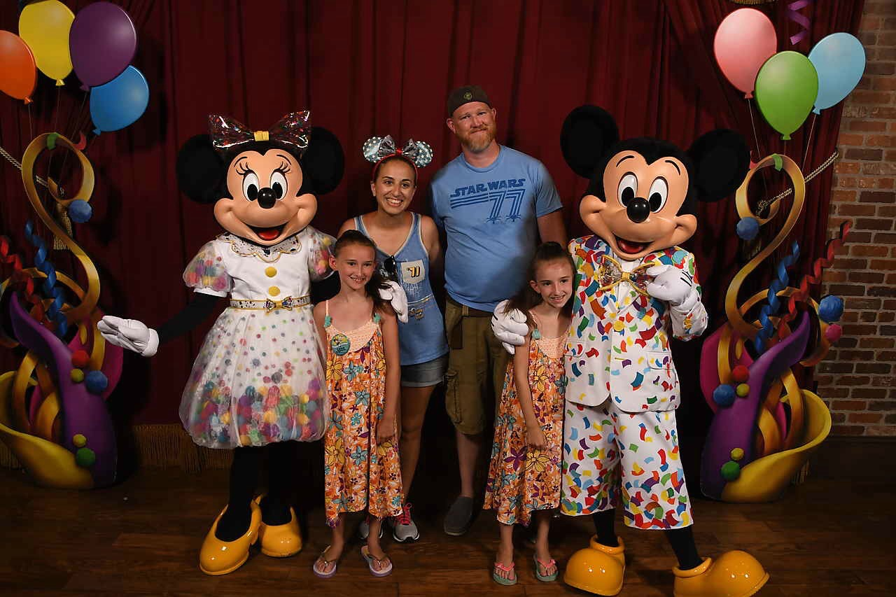 Mickey and Minnie Mouse Celebration at Disney World Magic Kingdom