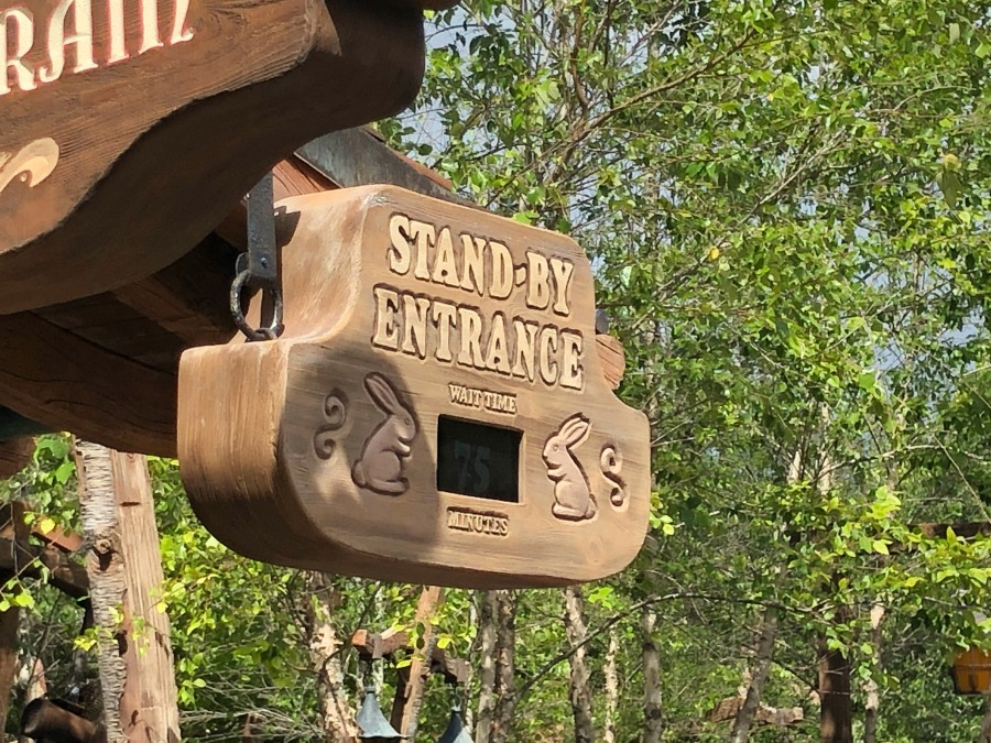 Stand By Entrance 7D Mine Train
