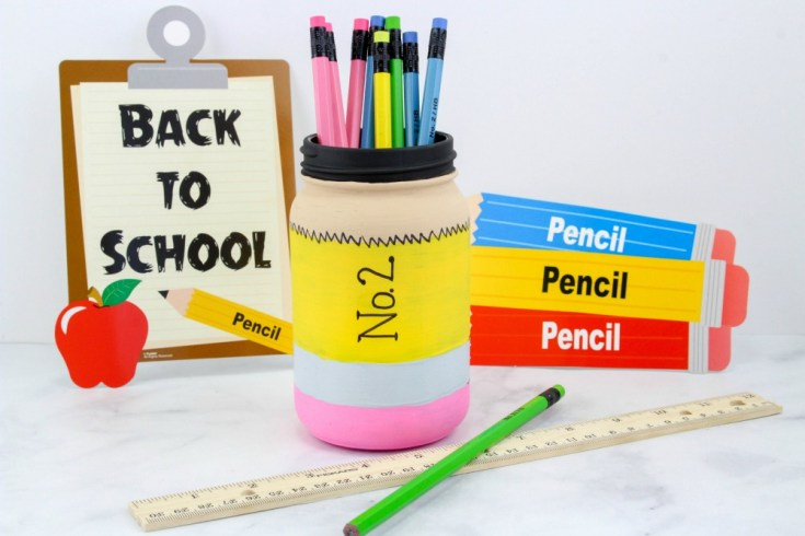 Back to School Pencil Mason Jar Craft Tutorial